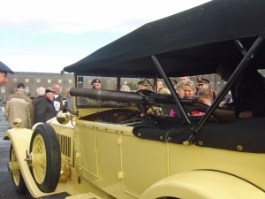 The rebuilt Rolls Royce Silver Ghost chassis No.5PP at Collins Barracks, Cork, 2013 (Photo: John Jefferies)